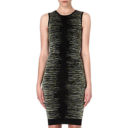 KAREN MILLEN Space-dyed knitted dress (Green/multi