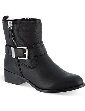 KAREN MILLEN Leather biker boots