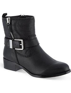 KAREN MILLEN Leather biker boots