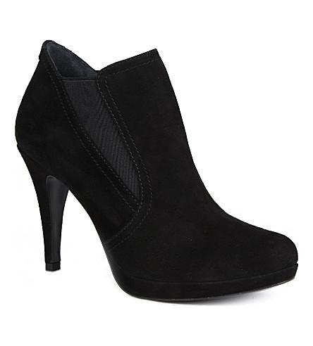 KAREN MILLEN Suede shoe boots (Black