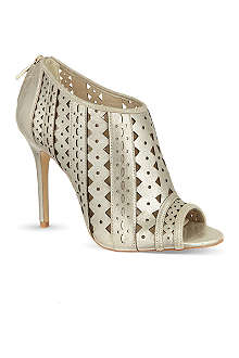 KAREN MILLEN Cutwork metallic shoe boots