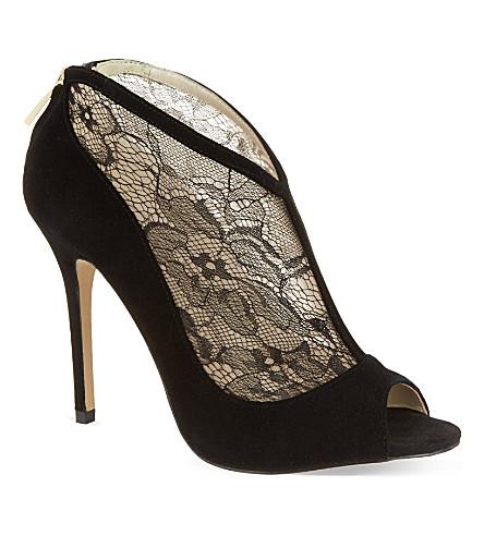 KAREN MILLEN Lace shoe boots (Black