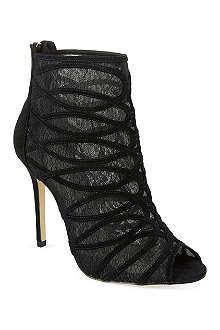 KAREN MILLEN Lace & suede ankle boots
