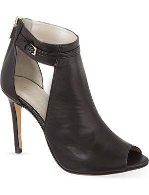 KAREN MILLEN Leather cut-out shoe boots