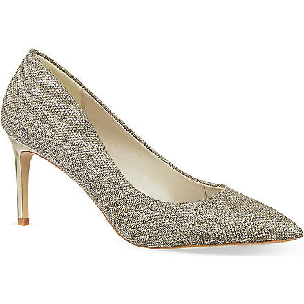 KAREN MILLEN Glitter court shoes (Gold