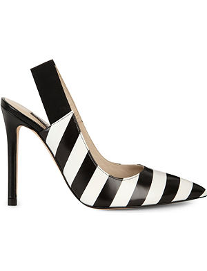 KAREN MILLEN Striped sling-back shoes