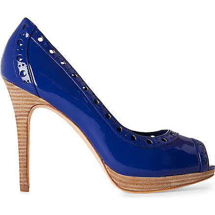 KAREN MILLEN Patent-leather courts (Blue
