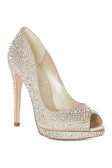 KAREN MILLEN Limited edition crystal embellished court shoes