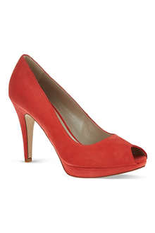 KAREN MILLEN Signature suede court shoes