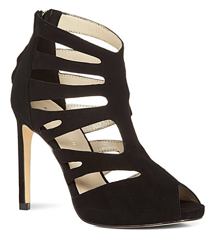 KAREN MILLEN Suede gladiator sandals (Black