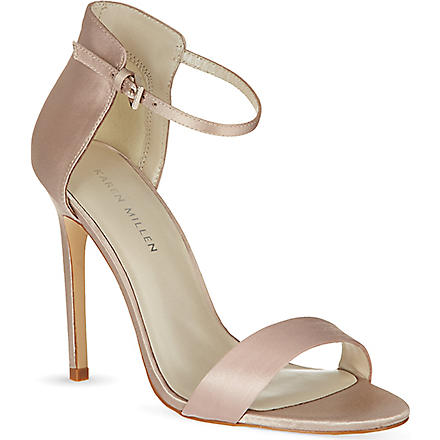 KAREN MILLEN Satin sandals (Neutral