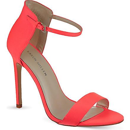 KAREN MILLEN Satin sandals (Pink