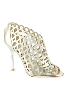 KAREN MILLEN Metallic laser cut ankle boot