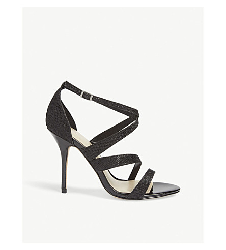 KAREN MILLEN Shiny textured sandals (Black
