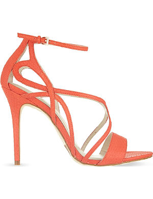 KAREN MILLEN Snake strappy heeled sandals