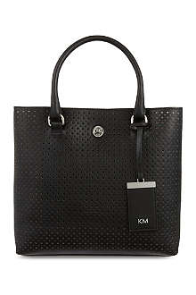 KAREN MILLEN Small perforated tote