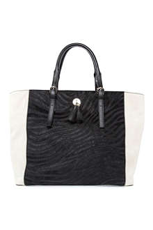 KAREN MILLEN Colour-block large tote