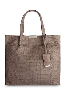 KAREN MILLEN Limited Edition crocodile-effect leather tote