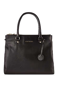 KAREN MILLEN Textured leather large tote