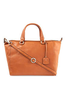 KAREN MILLEN Grained leather tote