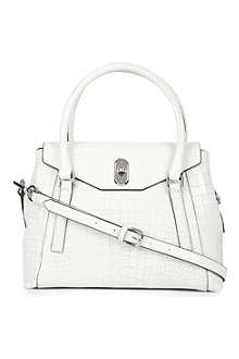 KAREN MILLEN Croc-print leather shoulder bag
