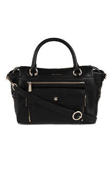 KAREN MILLEN Pocket front leather tote bag
