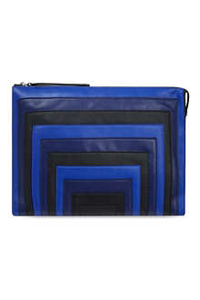 KAREN MILLEN Block colour striped clutch bag