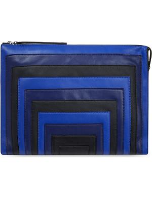 KAREN MILLEN Block colour striped clutch bag