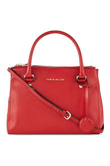 KAREN MILLEN Textured leather tote