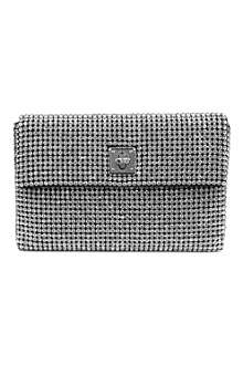 KAREN MILLEN Crystal encrusted clutch