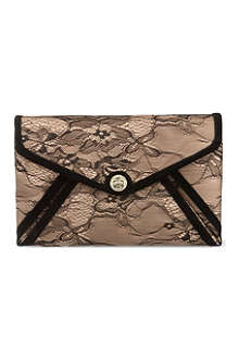 KAREN MILLEN Lace envelope clutch