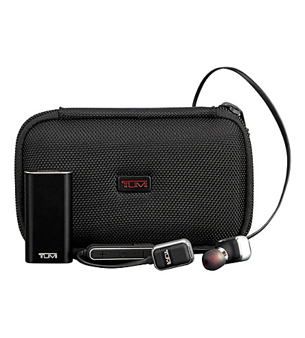 TUMI Wireless earbud headphones (Black+gunmetal
