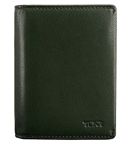 TUMI Mason gusseted leather card case (Hunter