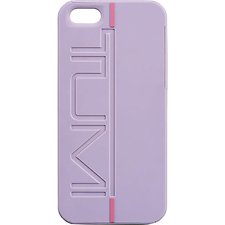 TUMI Rubberised iPhone 5 snap case (Raisin