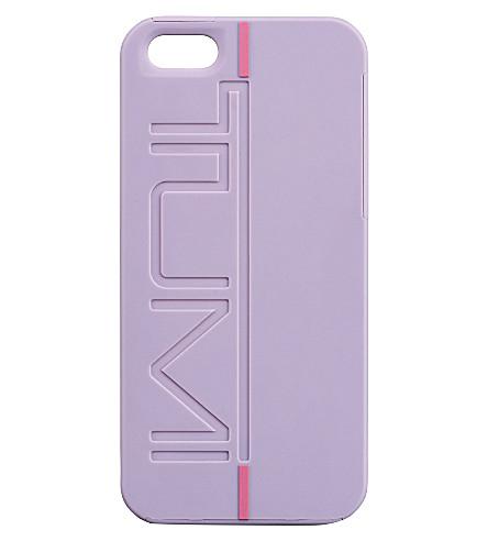 TUMI Rubberised iPhone 5 snap case (Raisin