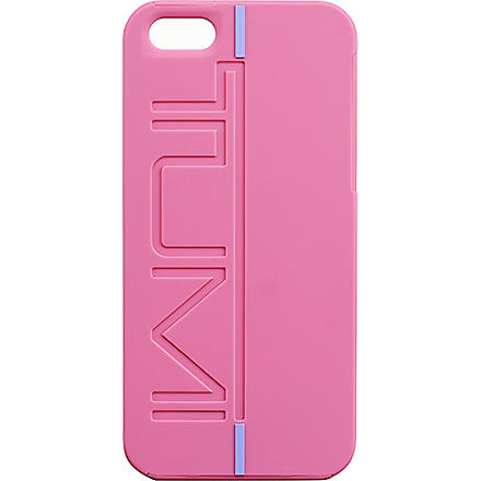 TUMI Rubberised iPhone 5 snap case (Raspberry