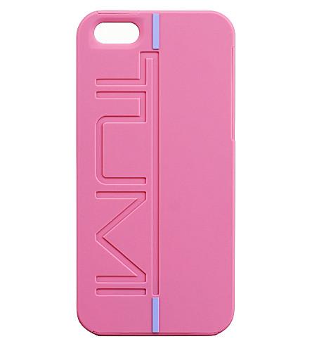 TUMI Rubberised iPhone 5 snap case (Raspberry