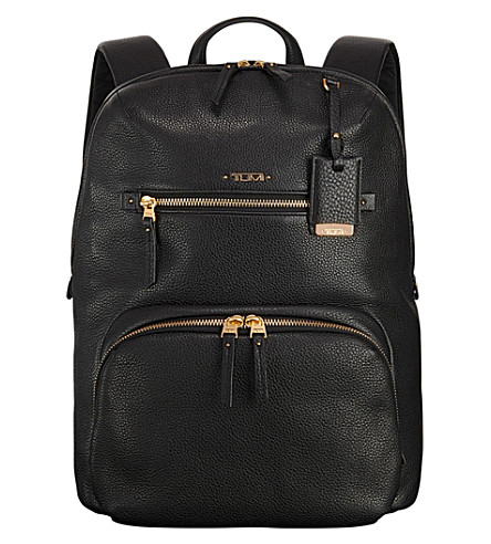 TUMI Halle limited edition leather backpack (Black