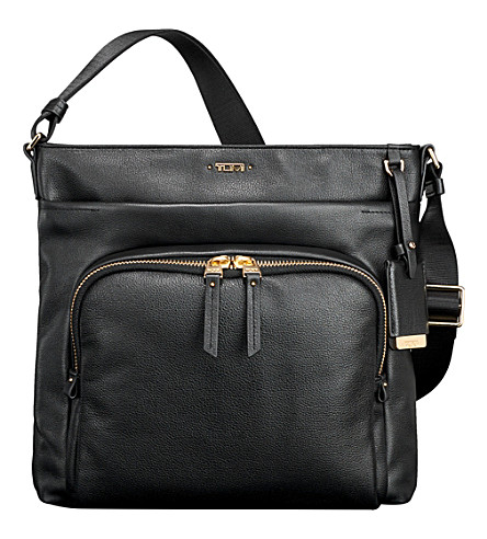 TUMI Capri leather crossbody bag (Black
