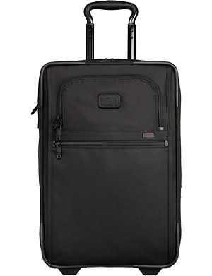TUMI Alpha 2 expandable two-wheel slim carry-on suitcase 55cm