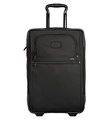 TUMI Alpha 2 expandable two-wheel slim carry-on suitcase 55cm (Black