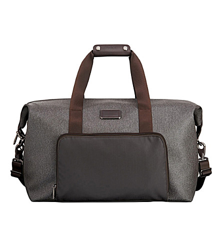 TUMI Double expansion travel satchel (Earl+grey