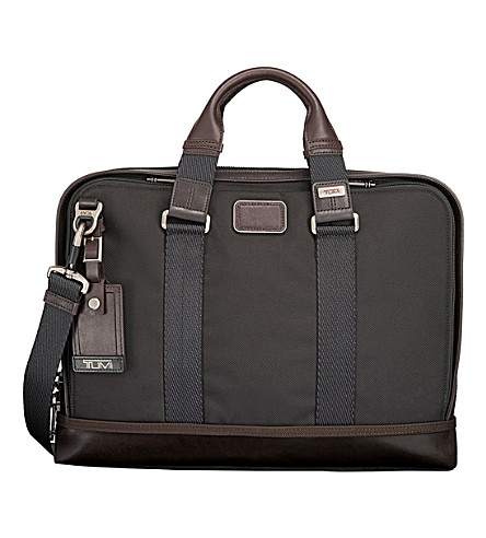 TUMI Andrews slim brief (Hickory