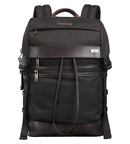 TUMI Kinser flap nylon backpack (Hickory