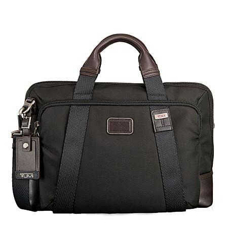 TUMI Hansen nylon briefcase (Hickory