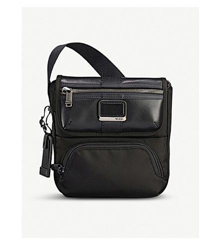 TUMI Alpha Bravo Barton nylon and leather cross-body bag (Black