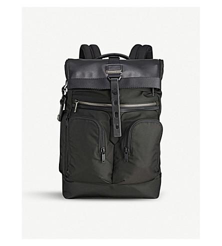 TUMI Alpha Bravo London roll-top nylon backpack (Black