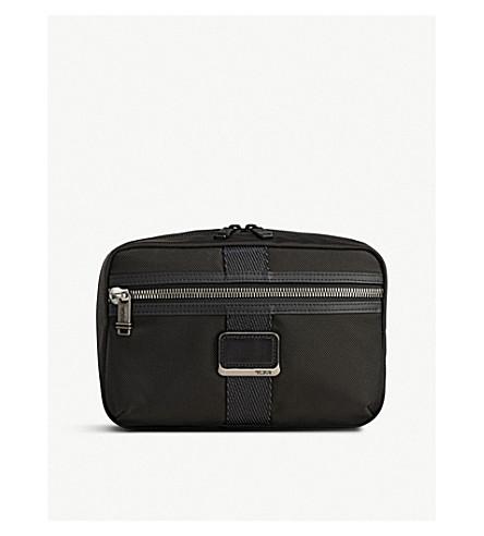 TUMI Reno zipped woven wash bag (Black