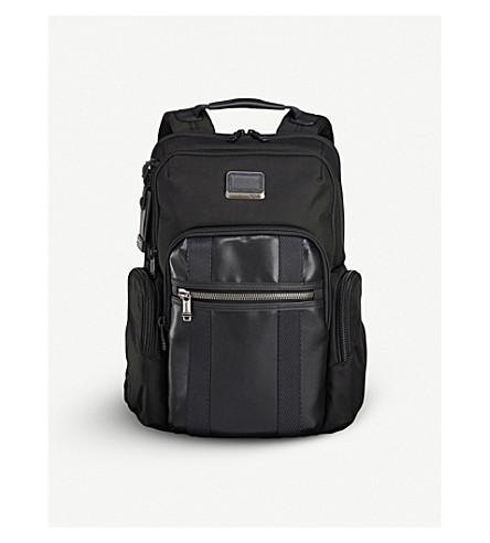 TUMI Alpha Bravo Nellis nylon and leather backpack (Black