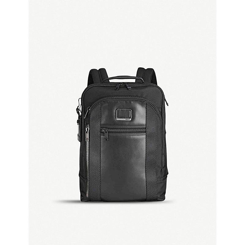 TUMI | Alpha Bravo Davis Ballistic Nylon And Leather Backpack | Goxip